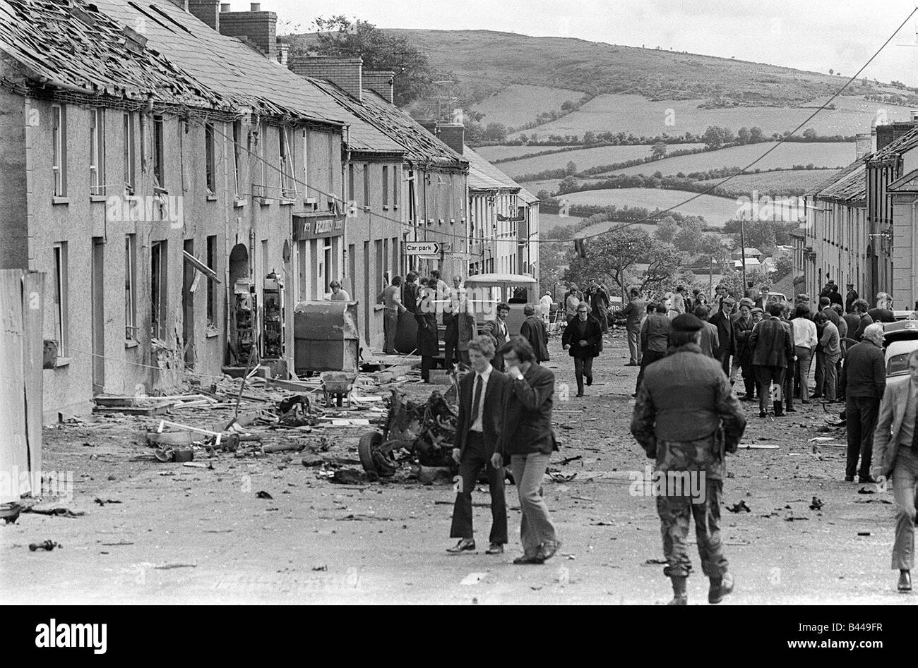 Claudy Car Bomb Aug 1972 Explosions Operation Motorman Prior to the military operation 4 000 extra troops were brought Stock Photo