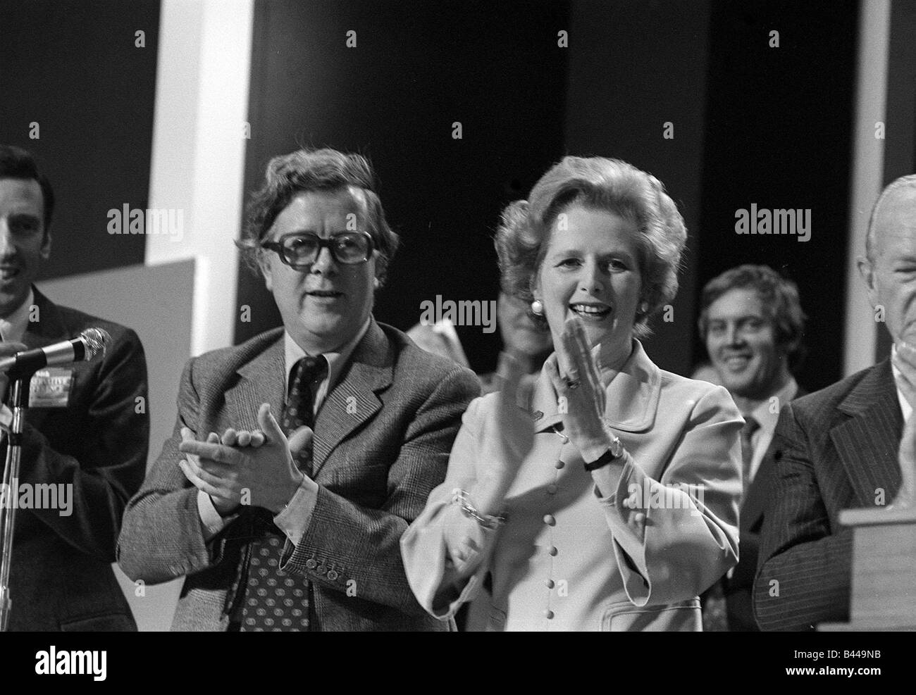 Margaret Thatcher October 1977 and Sir Geoffrey Howe at the Conservative Party conference - Stock Image