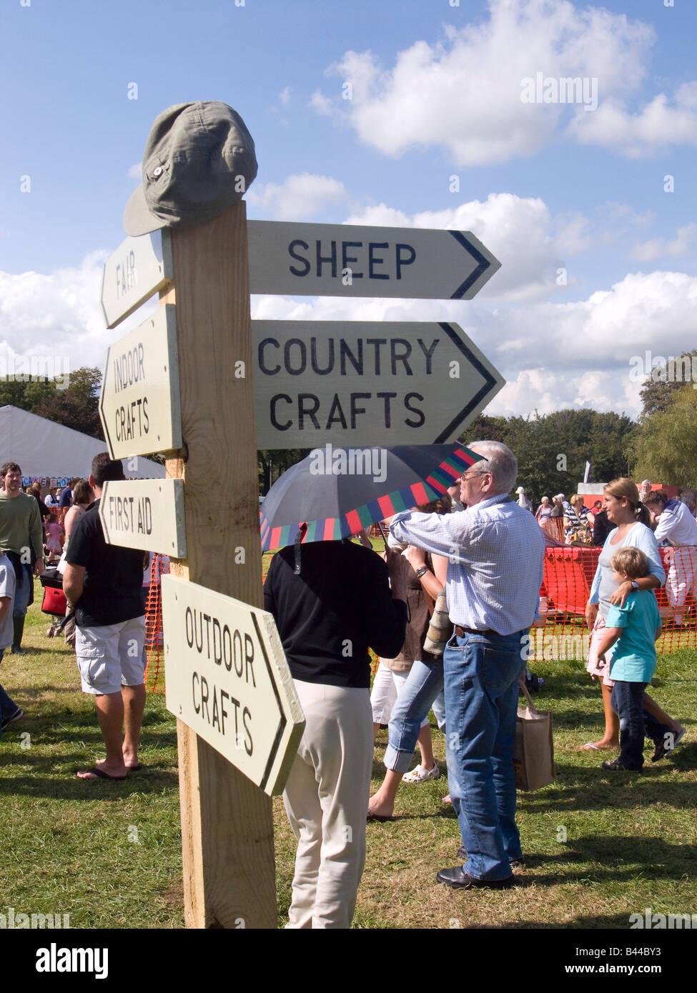 Findon Sheep Fair - Stock Image