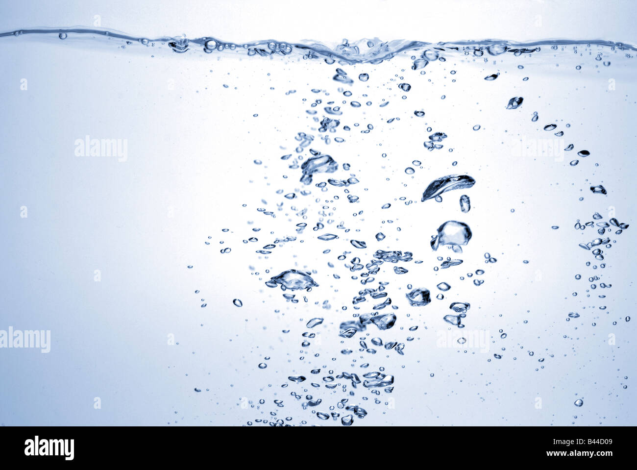 rippling water and bubbles - Stock Image