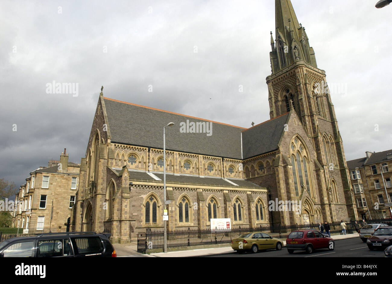 St Mary s Episcopal Church April 2004 in Great Western Rd Glasgow - Stock Image