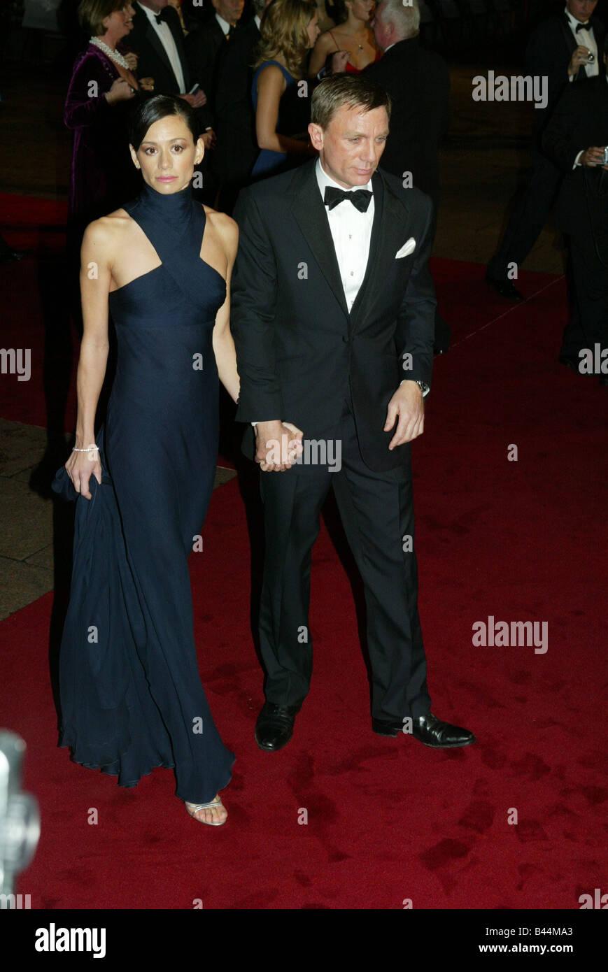 Actor Daniel Craig And Satsuki Mitchell Pose For