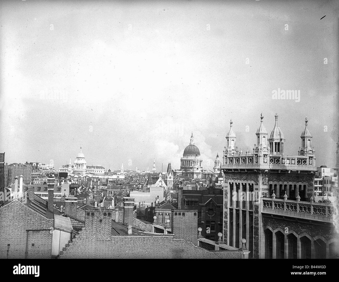 St Pauls Cathedral On The London Skyline During WW2 With Smoke Billowingup In Background Circa
