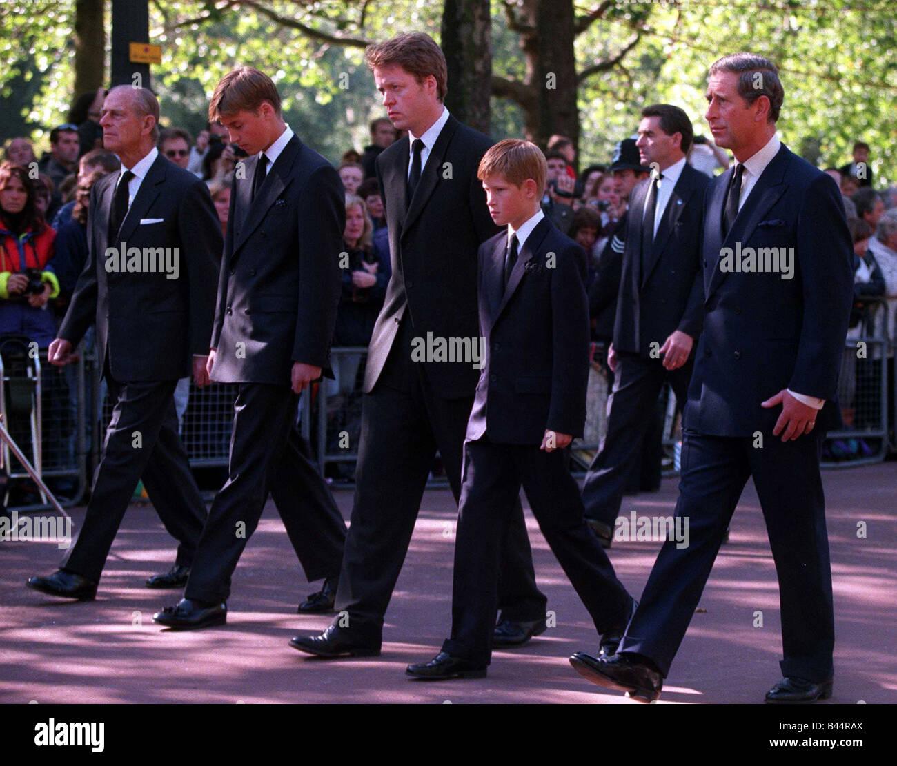 Princess Diana Funeral 6 September 1997 Prince Charles Prince