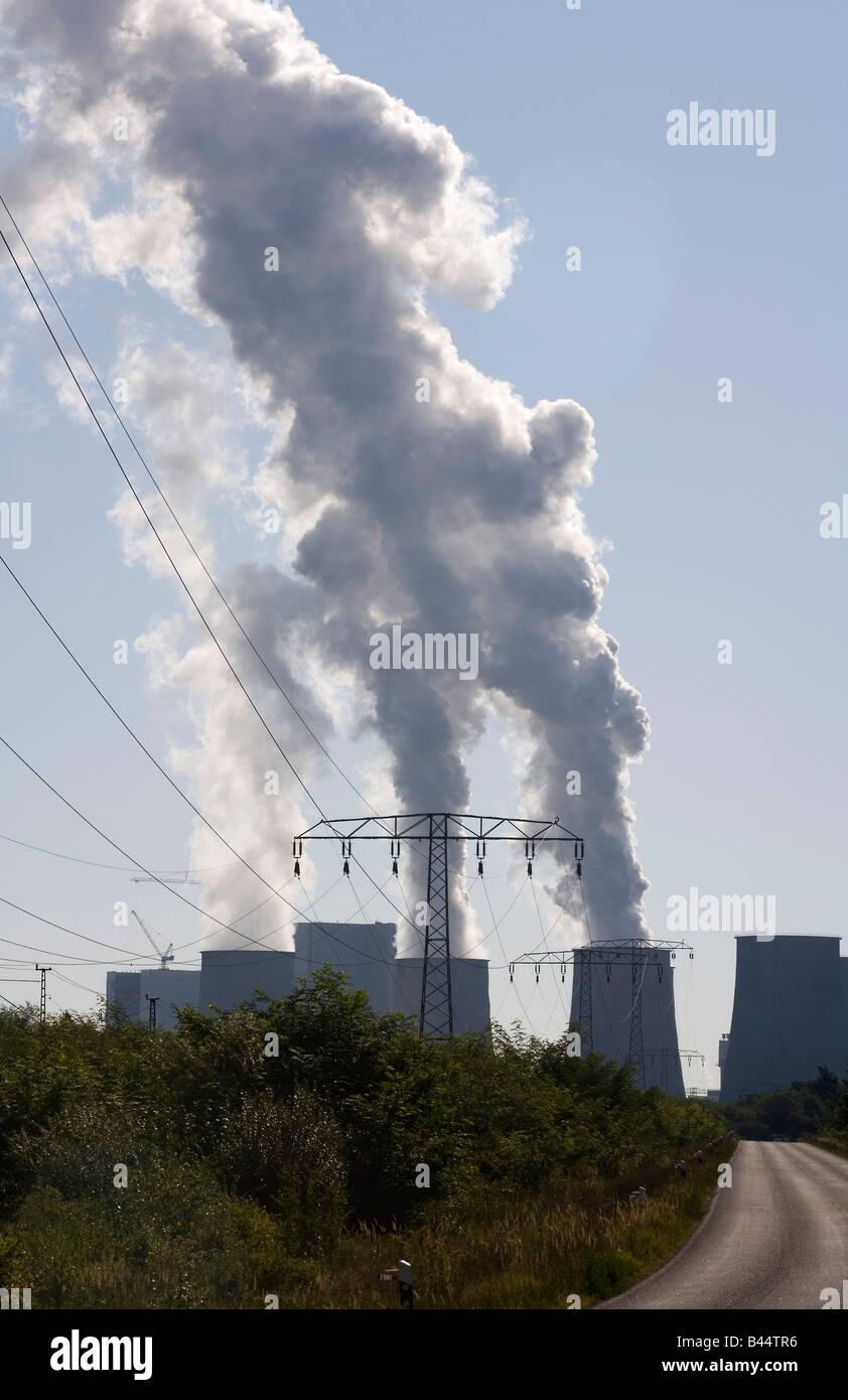 Brown coal power plant Boxberg O L Stock Photo