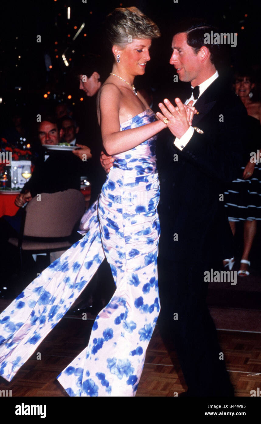 prince charles and princess diana dancing in melbourne during the stock photo alamy alamy