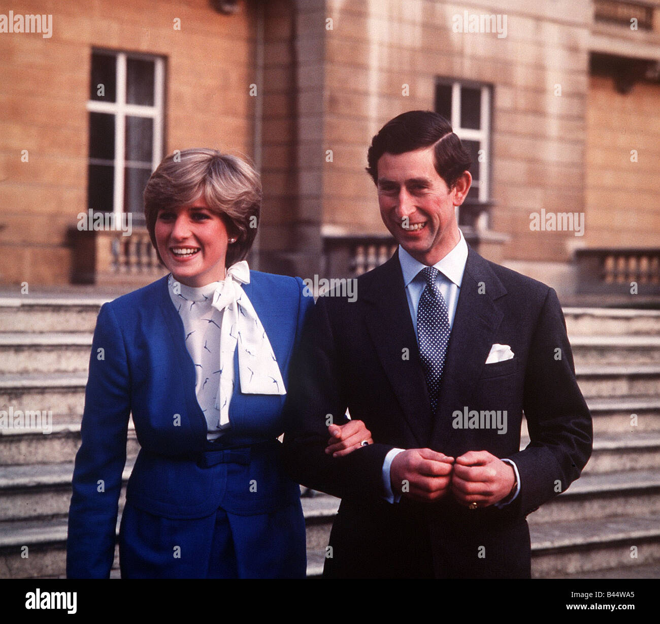 the engagement of prince charles and lady diana spencer february 1981 stock photo alamy alamy