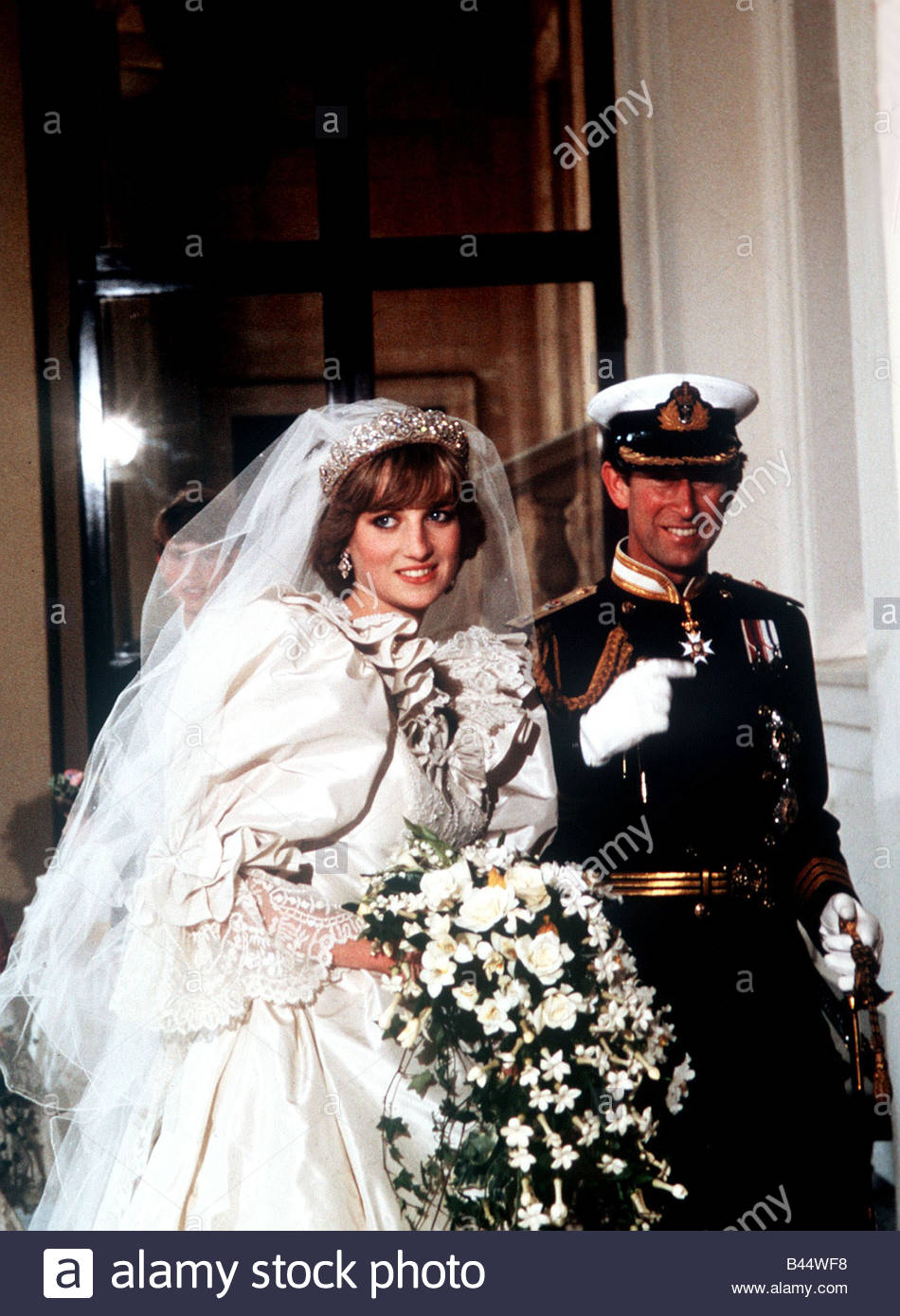 Charles And Diana Wedding.Wedding Of Prince Charles Lady Diana Spencer Arriving At Buckingham