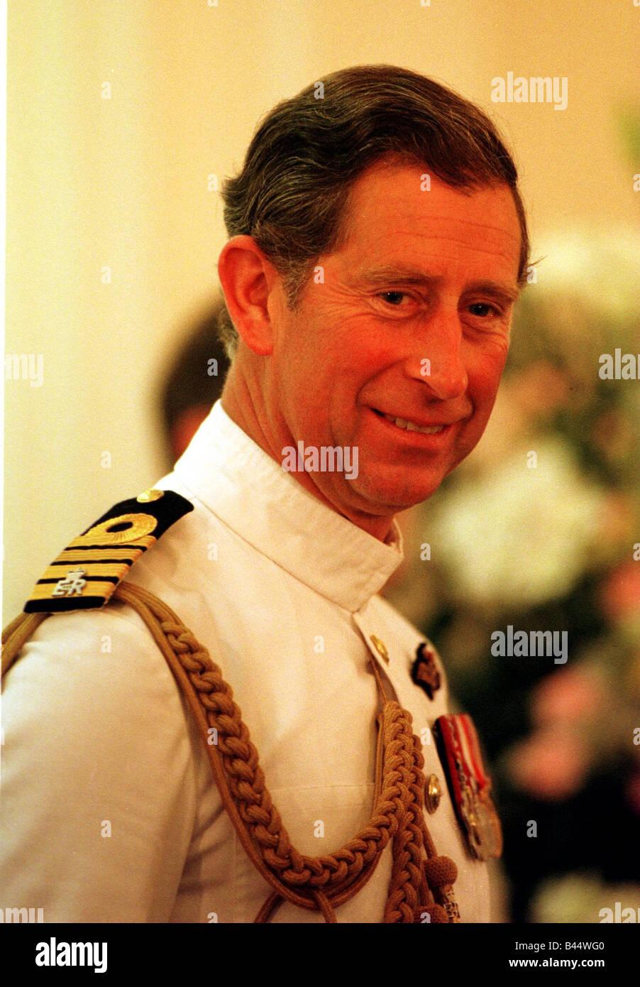 Prince Charles at the Hong Kong Handover June 1997 - Stock Image