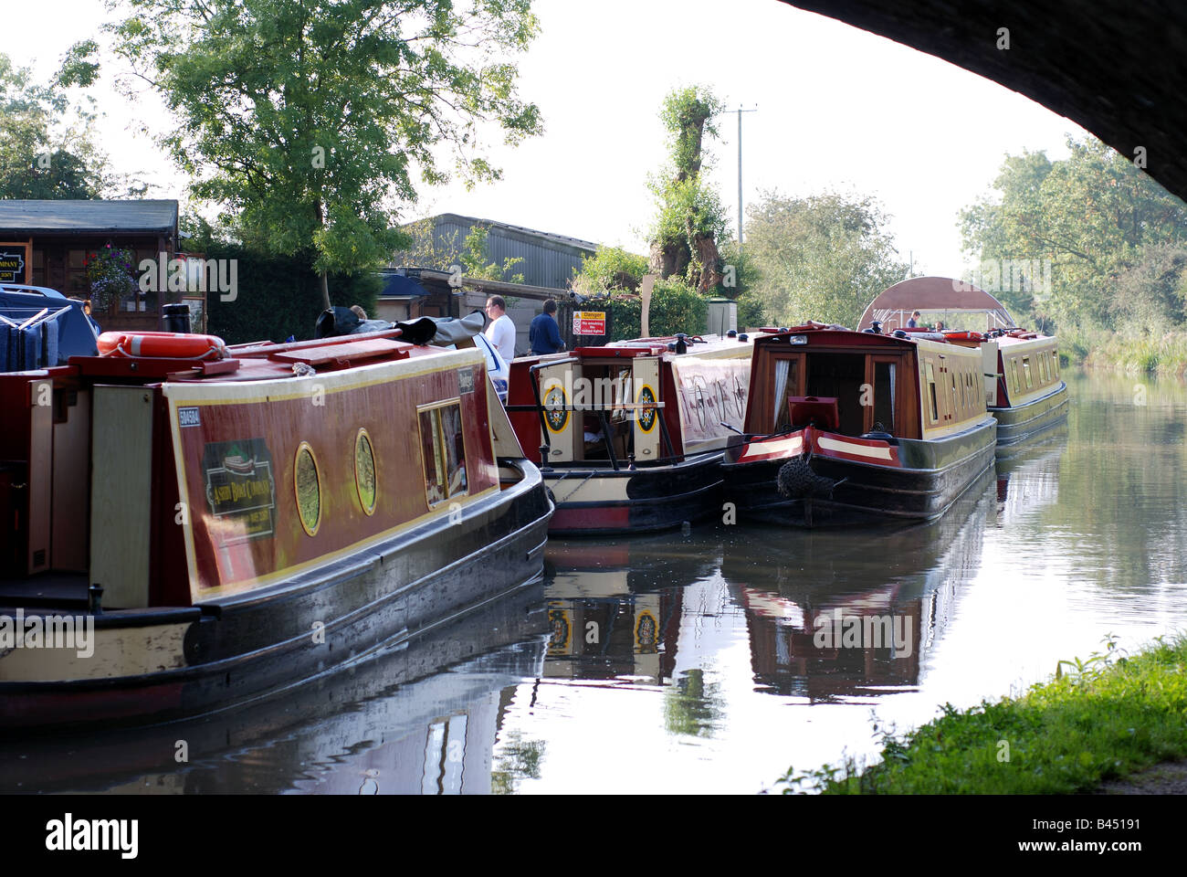 The Ashby Canal at Stoke Golding Wharf, Leicestershire, England, UK - Stock Image