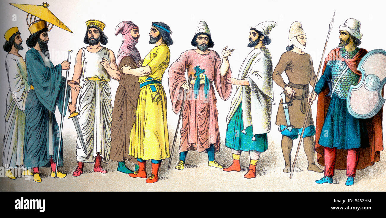 Persian Royals and Warriors - Stock Image