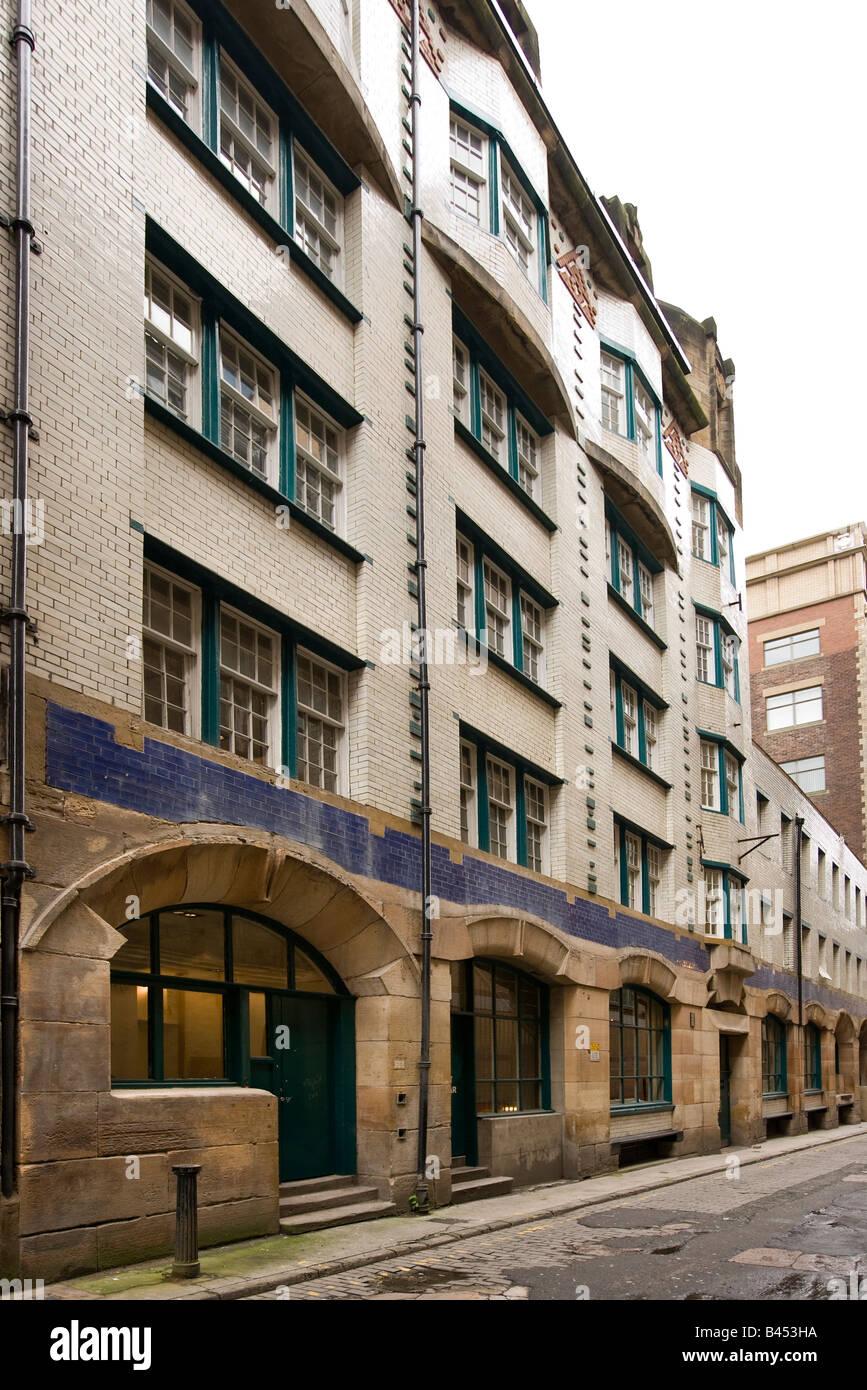 UK Scotland Glasgow Renfield Lane Charles Rennie Mackintosh designed former Daily Record building - Stock Image