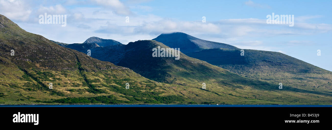 Ben More and mountains of Isle of mull rise above Loch Na Keal Isle of Mull Scotland - Stock Image