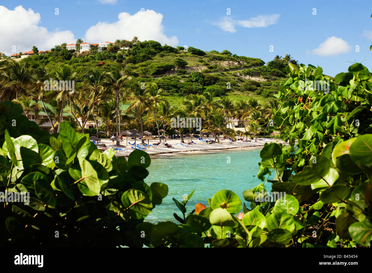 The St James's Beach Club on the Caribbean island of Antigua - Stock Image