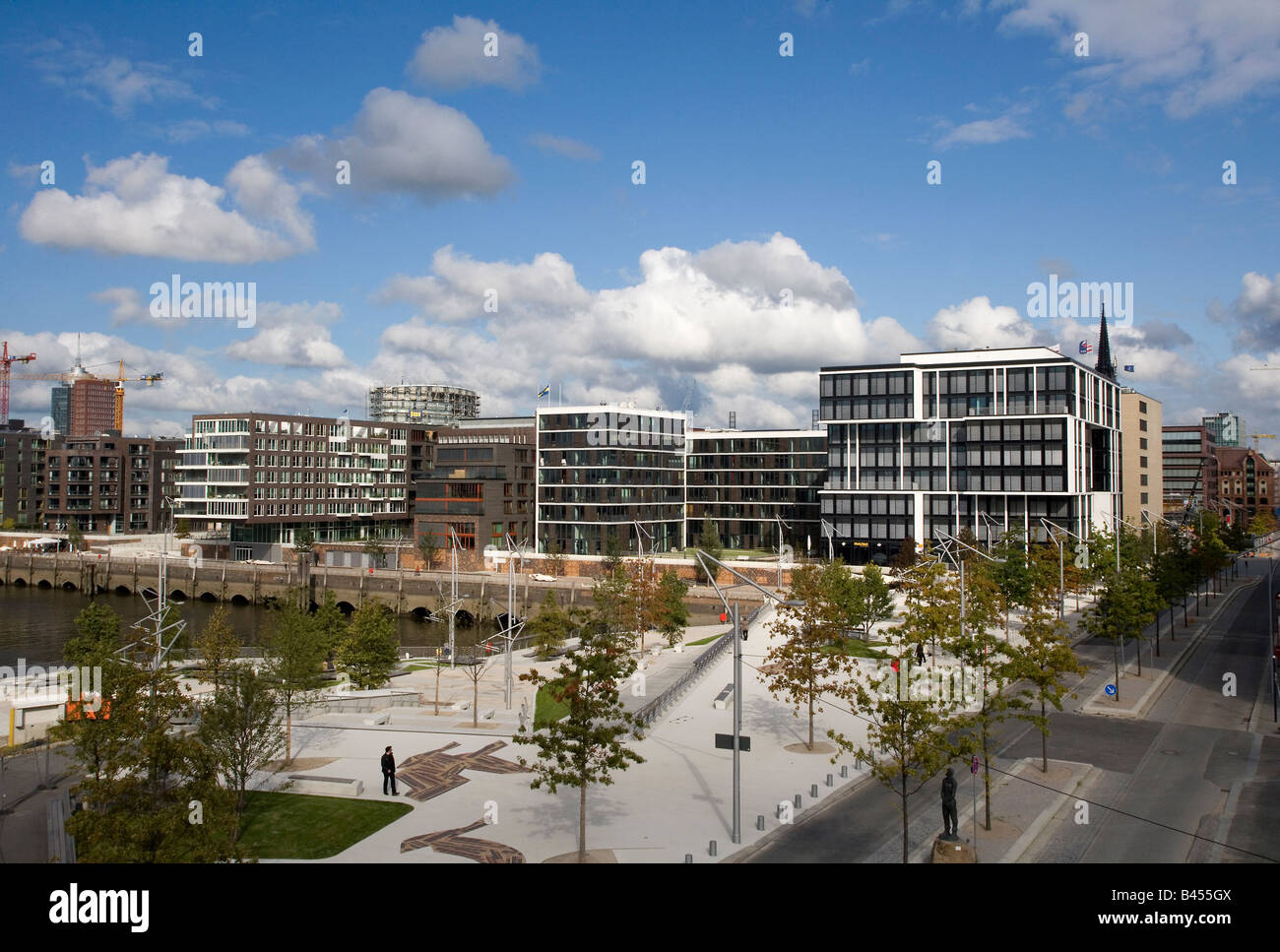 New residential houses in the HafenCity Harbour City - Stock Image