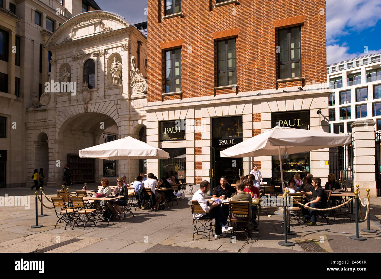 Paul Cafe bar in the city London United Kingdom - Stock Image