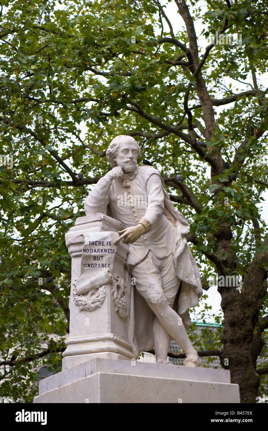 William Shakespeare statue in Leicester Square W1 London United Kingdom - Stock Image