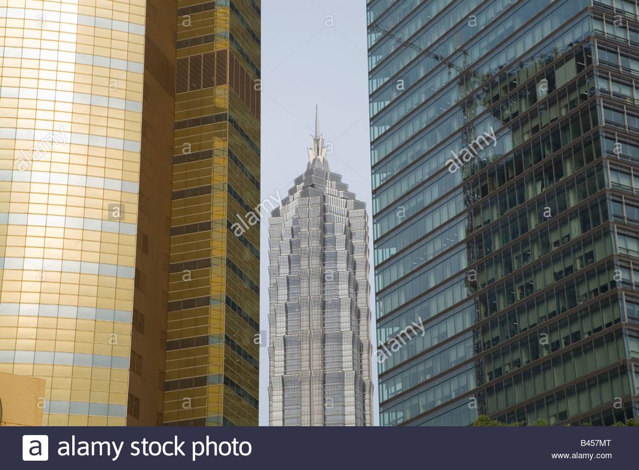 China, Shanghai, Pudong, Jin Mao Tower - Stock Image