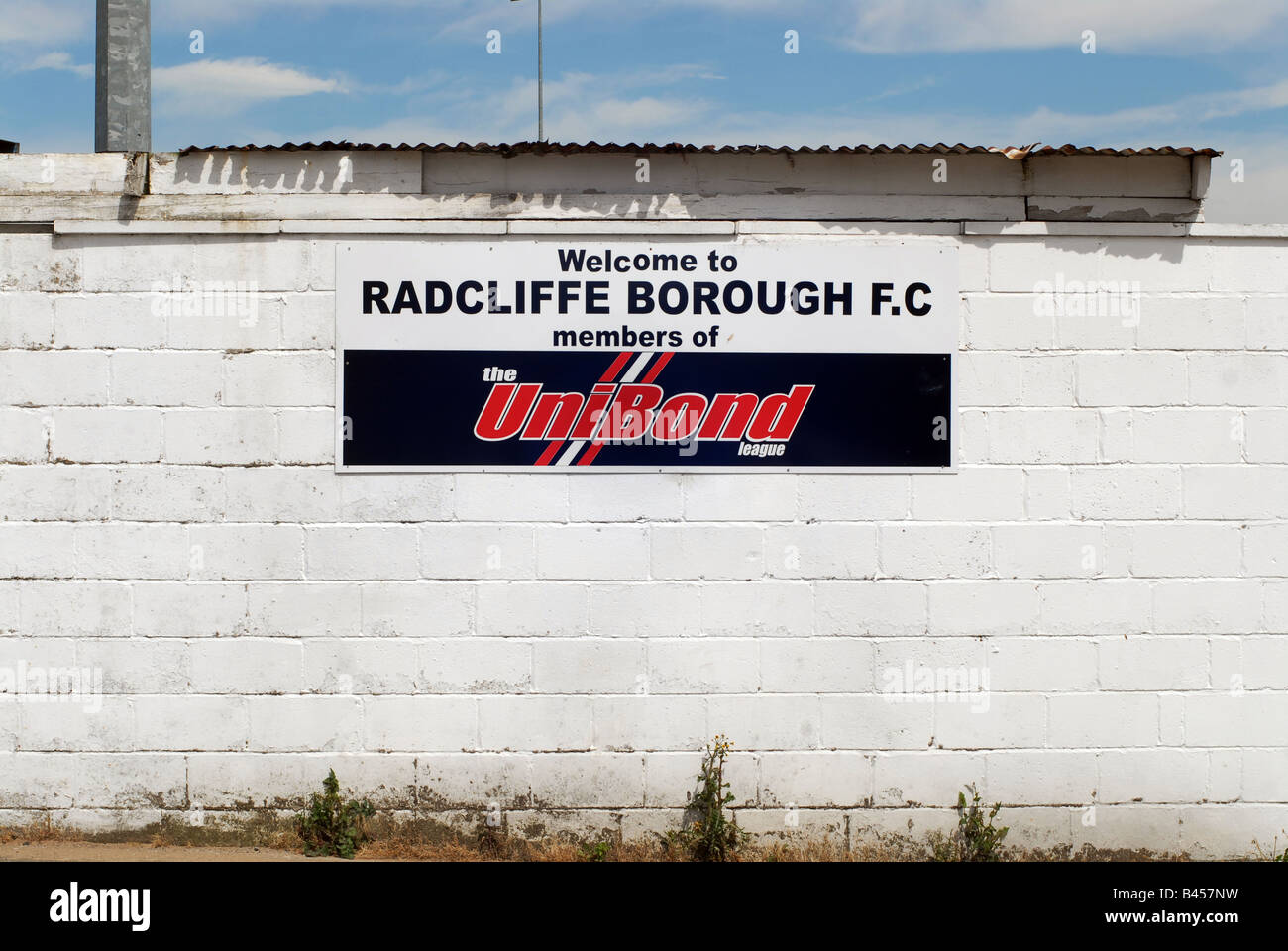 Radcliffe Borough Football Club F.C - Stock Image