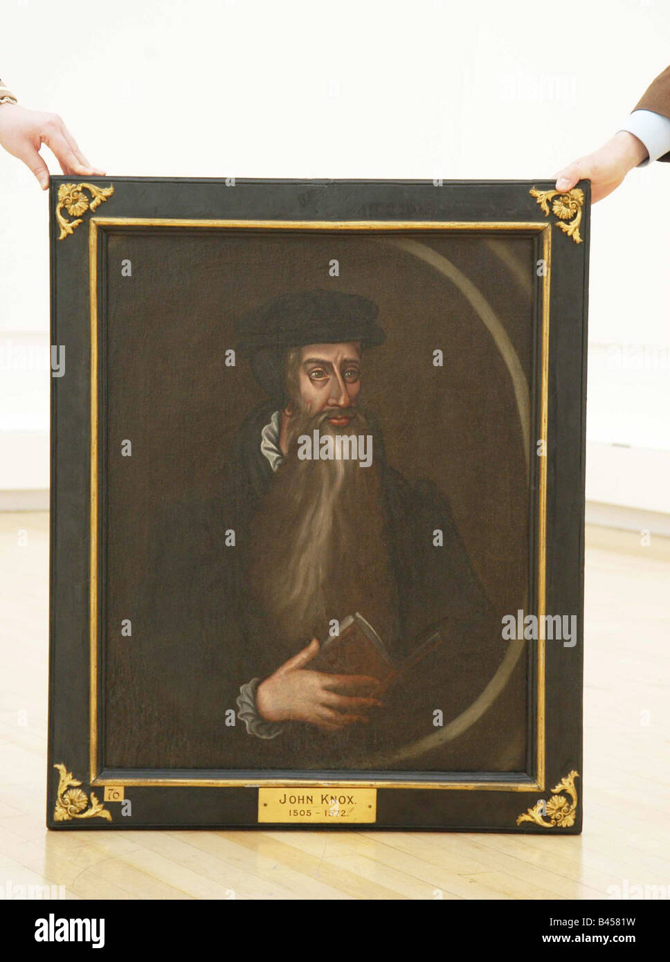 painting of John Knox a key figure from Scotlands history - Stock Image