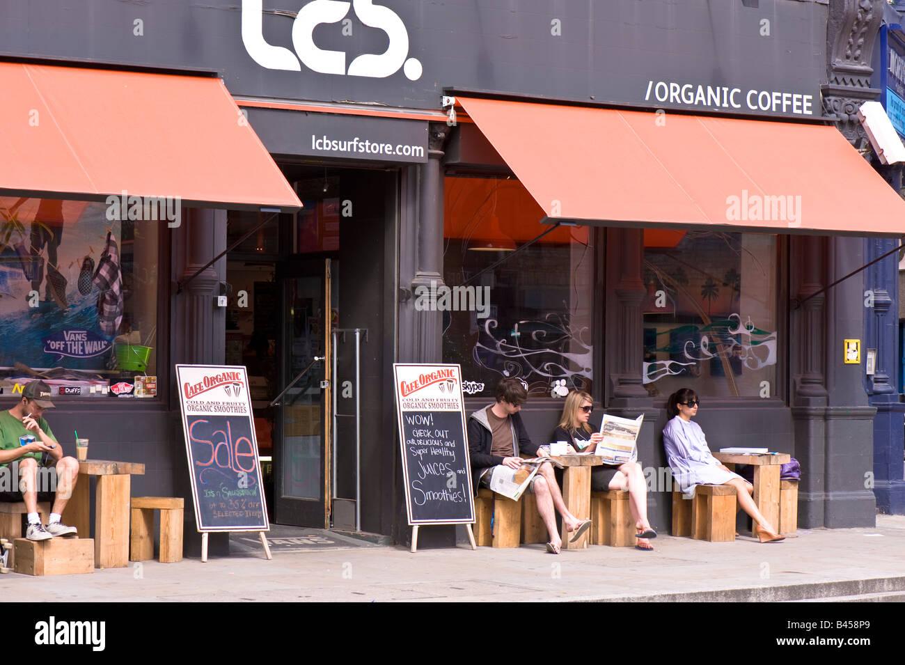 Modern cafe by Brick Lane E1 London United Kingdom Stock Photo