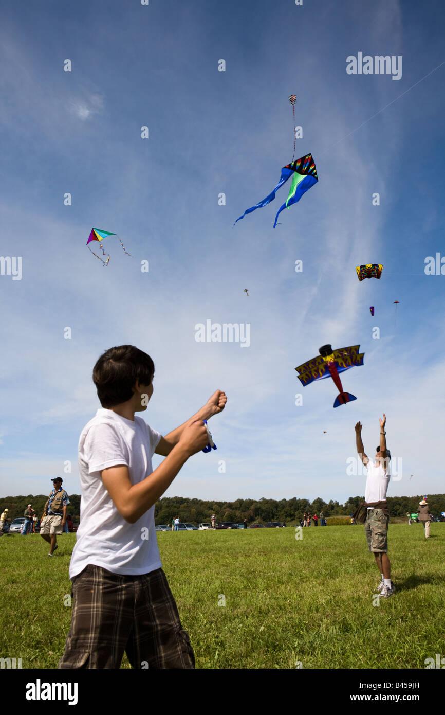 Kite Festival Cherry Valley New York State - Stock Image