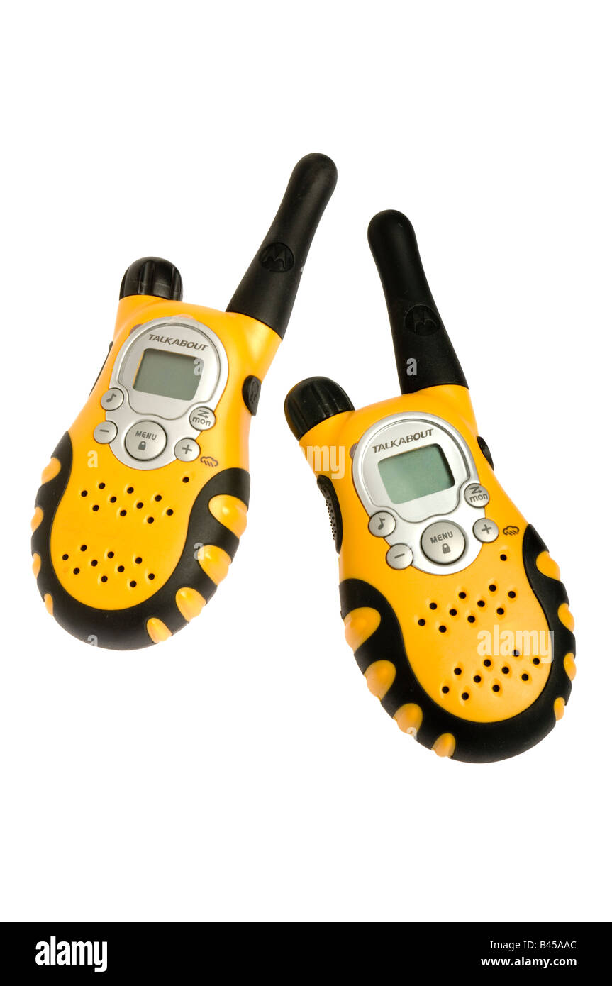 two hand held radios Stock Photo