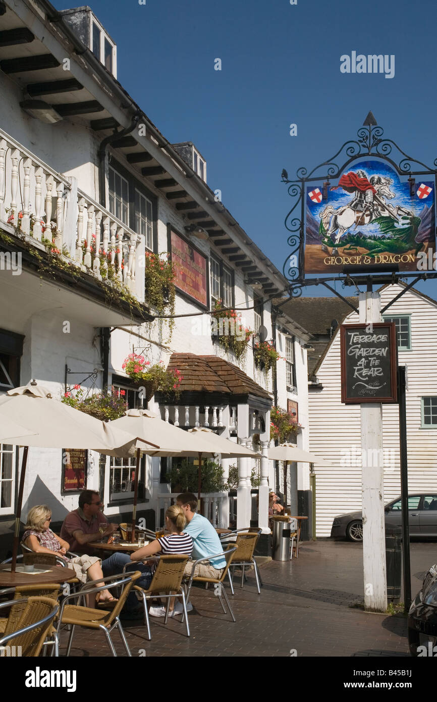 England Kent Westerham George&Dragon Inn - Stock Image