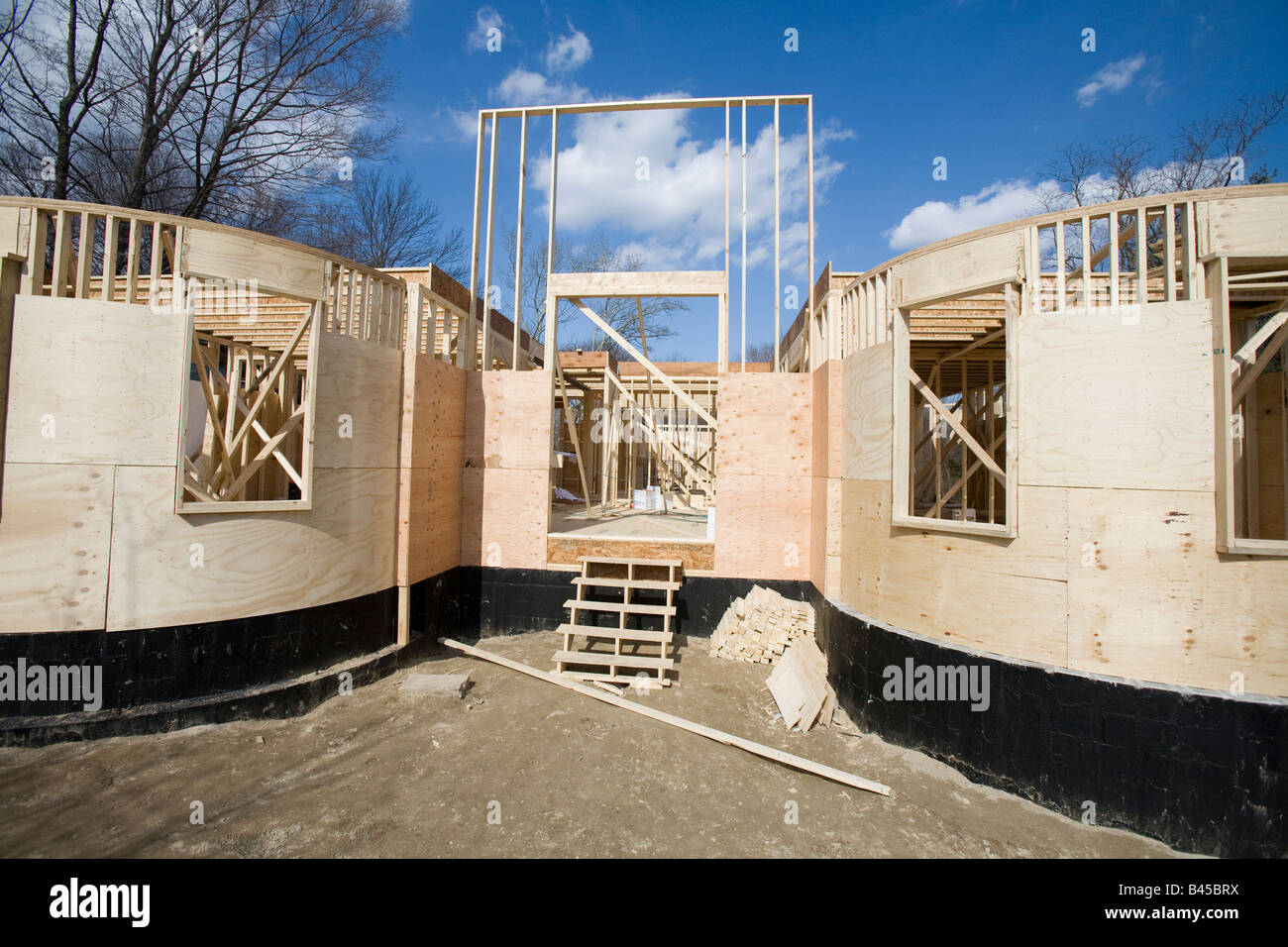 New home under construction. Stock Photo
