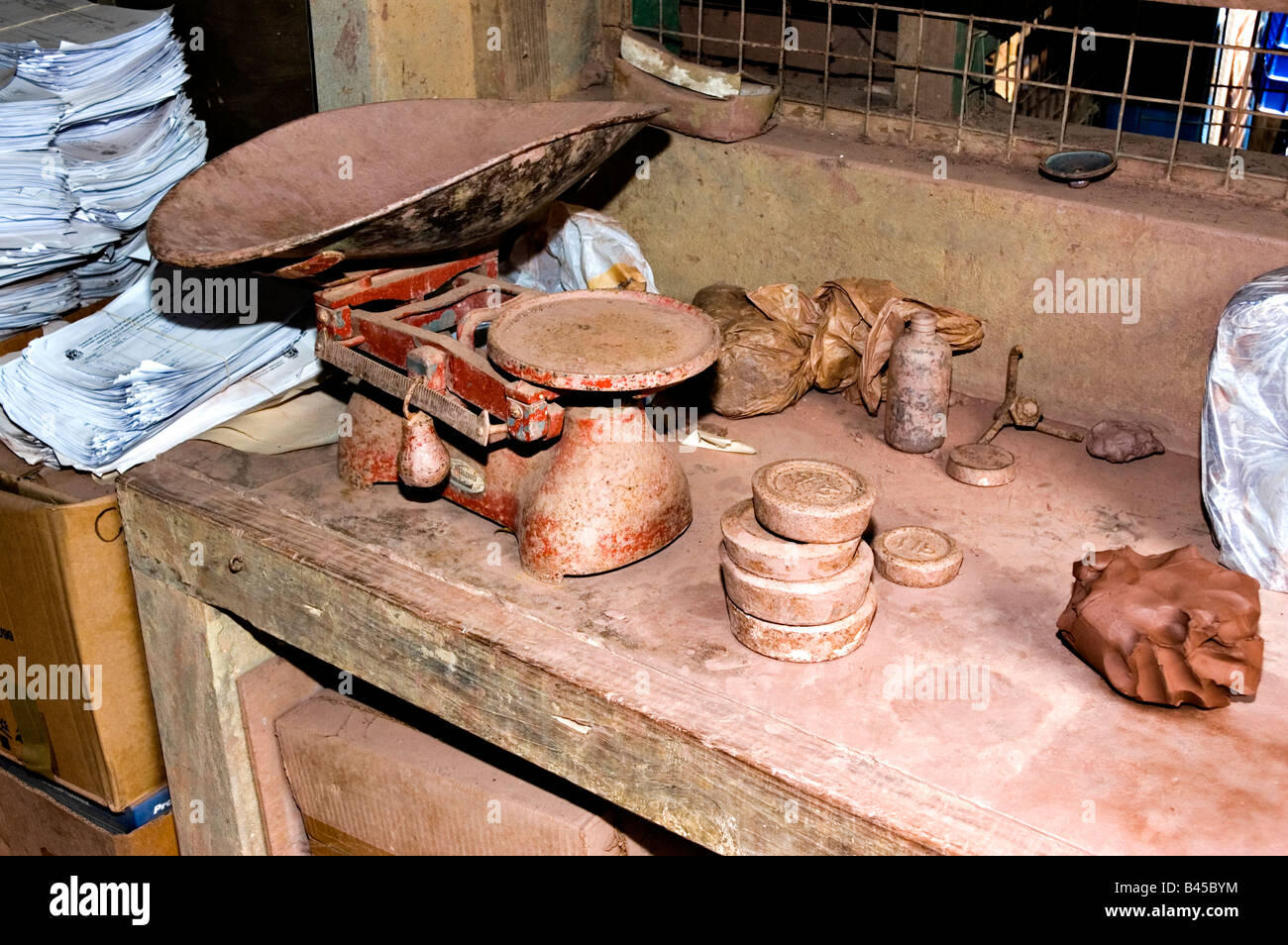Earthworks pottery in St Thomas Parish Barbados - Stock Image