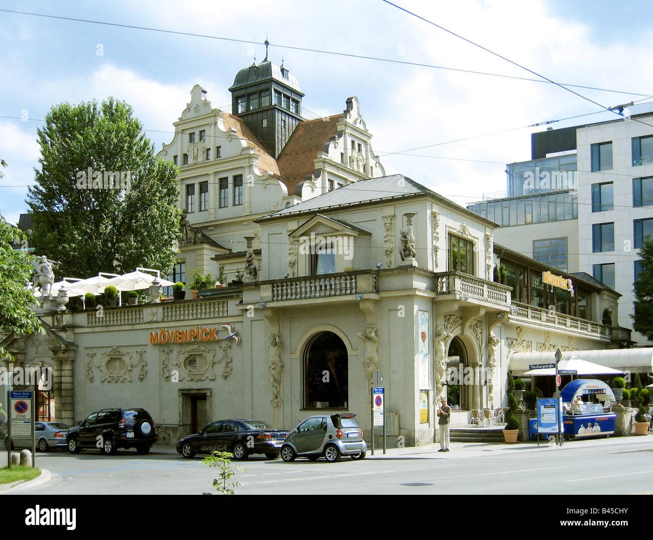 geography / travel, Germany, Bavaria, Munich, buildings, architecture,  Künstlerhaus, Kuenstlerhaus, artist - Stock Image