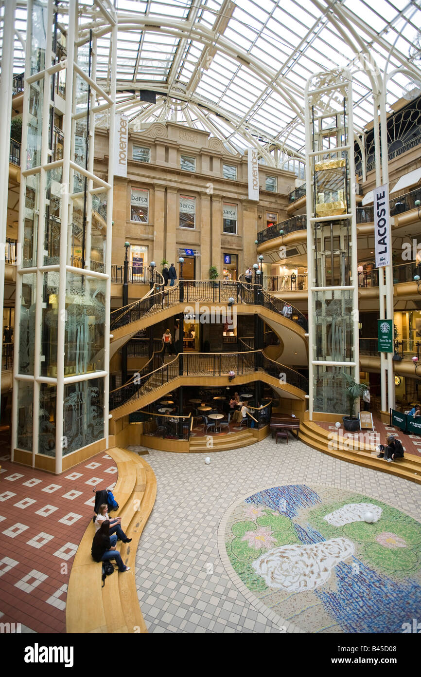 UK Scotland Glasgow Buchanan Street Princes Square indoor shopping centre - Stock Image