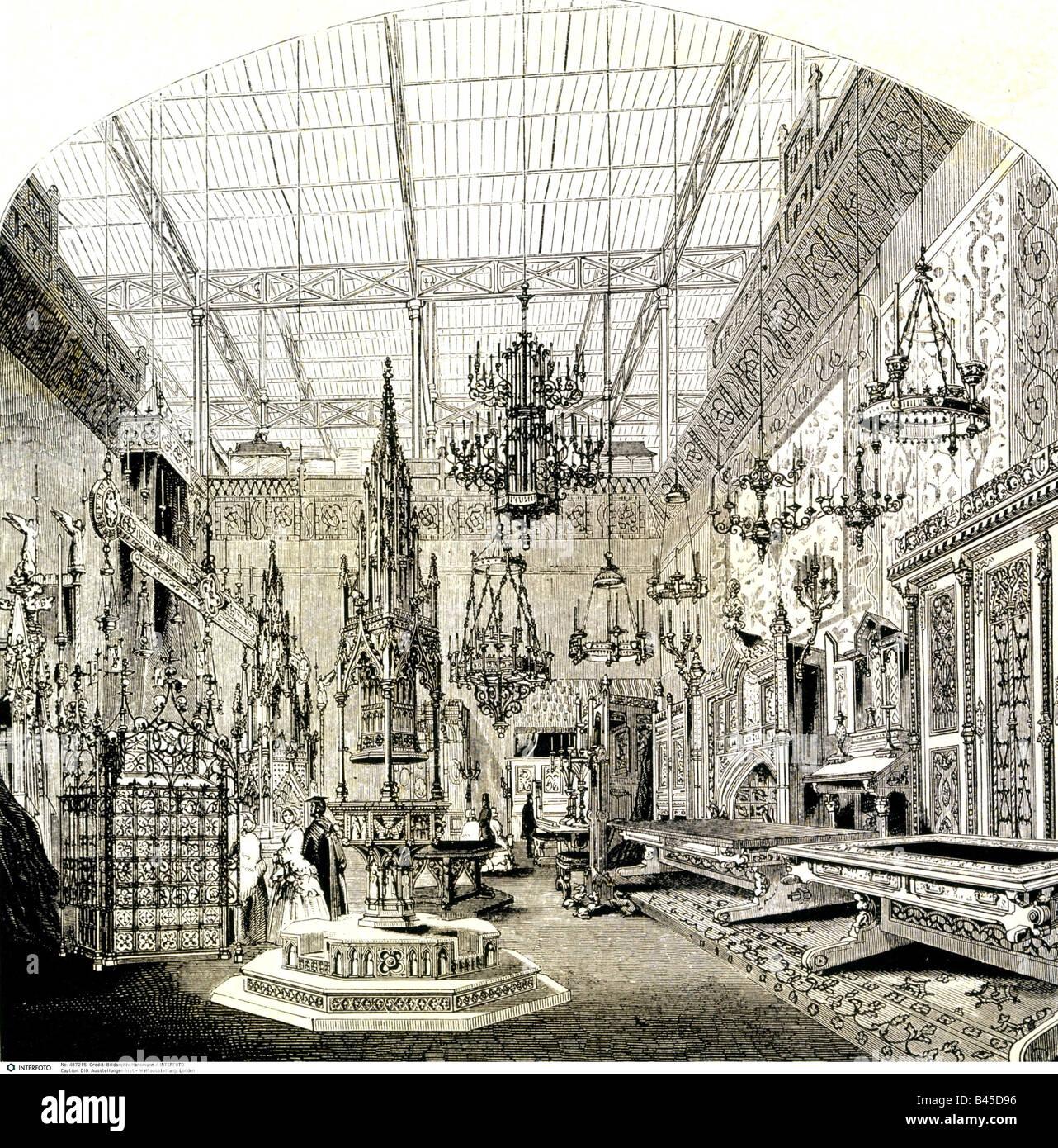 D Exhibition London : Medieval court stock photos images