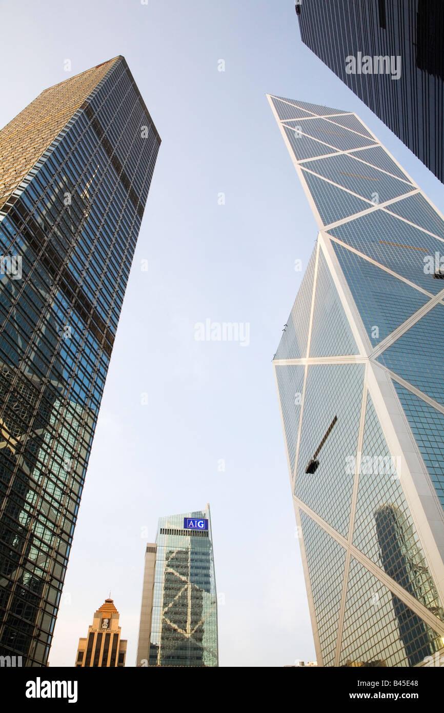 China, Hong Kong, The Bank of China Tower - Stock Image