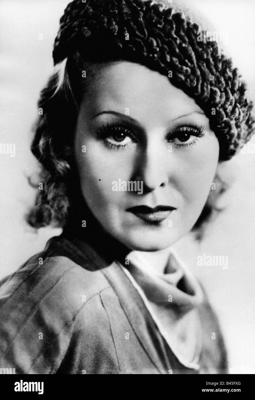 Harvey, Lillian, 19.1.1906 - 27.7.1968, British actress, portrait, 1930s, flap, hat, accessory, headgear,  clothing, - Stock Image