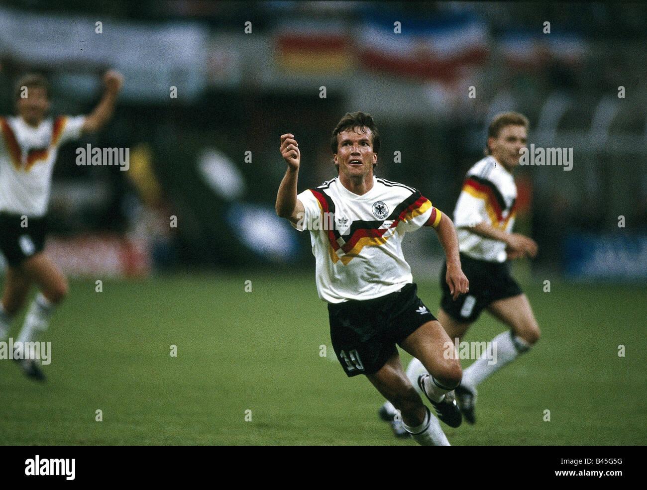 Sport, football, world championship, Germany versus Yugoslavia, (4:1), Milan, Italy, Lothar Matthäus, 10.6.1990, Stock Photo