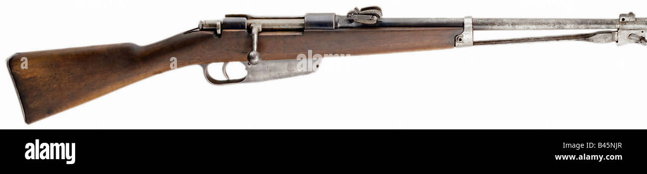 weapons, firearms, guns, cavalry short carbine, typ 1891, caliber 6,5 mm, Italy, rifle, gun, weapon, firearm, 20th - Stock Image