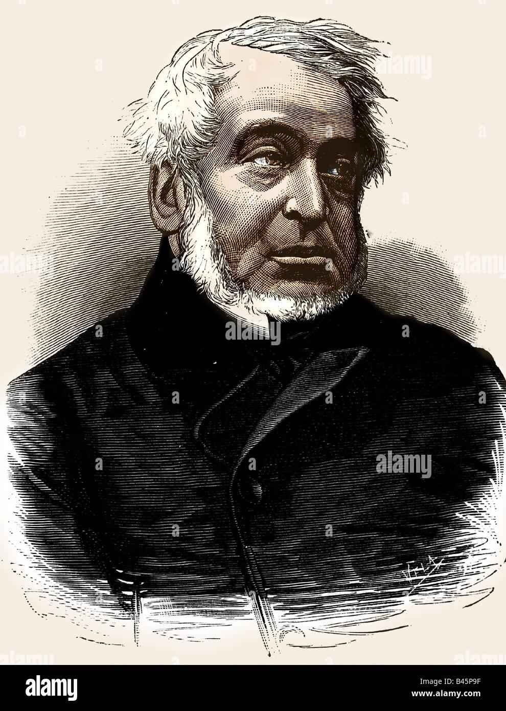 Rothschild, Lionel de 22.11.1808 - 3.6.1879, British banker & politician, portrait, engraving 1879, Additional - Stock Image