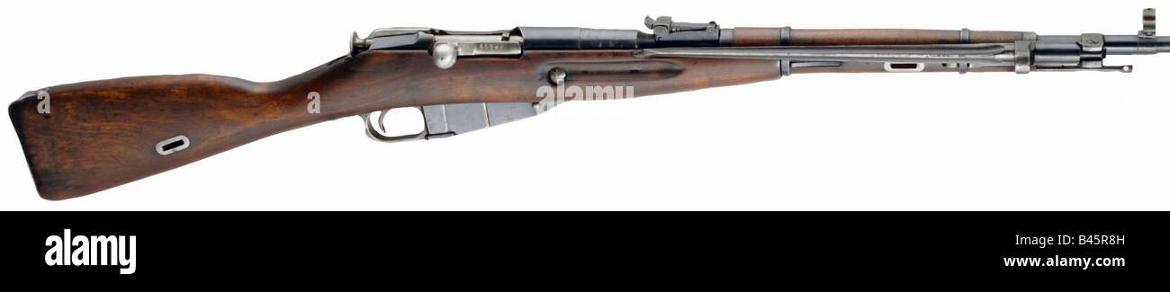 weapons/arms, firearms, long guns, carbine Mosin-Nagant typ 1938, caliber 7,62 mm, manufactured in Ishevsk, USSR - Stock Image