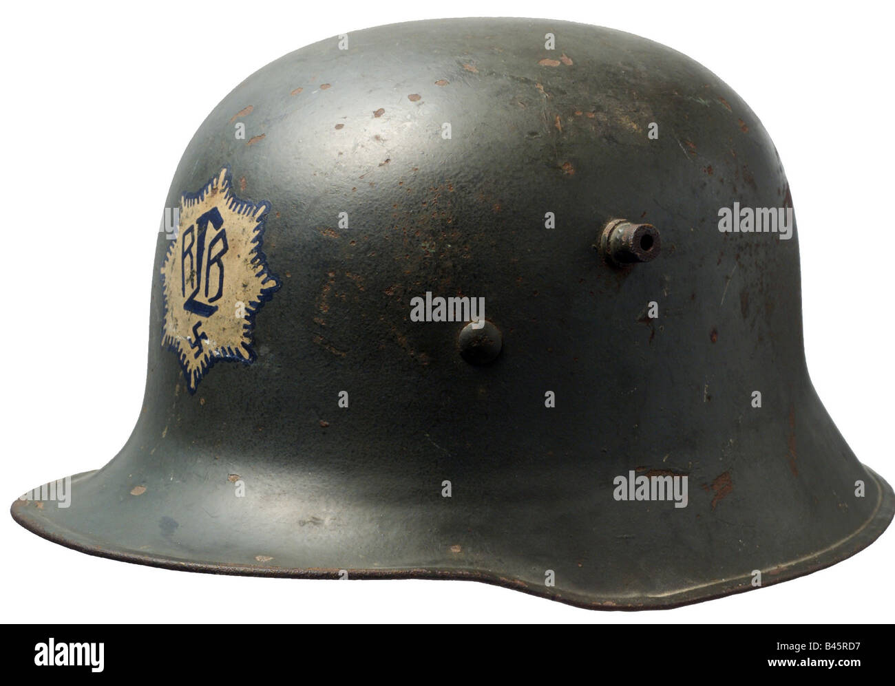 Nazism/National Socialism, organisations, Air Protection Corps 1933 - 1945, steel helmet typ 1918, Nazi Germany, - Stock Image