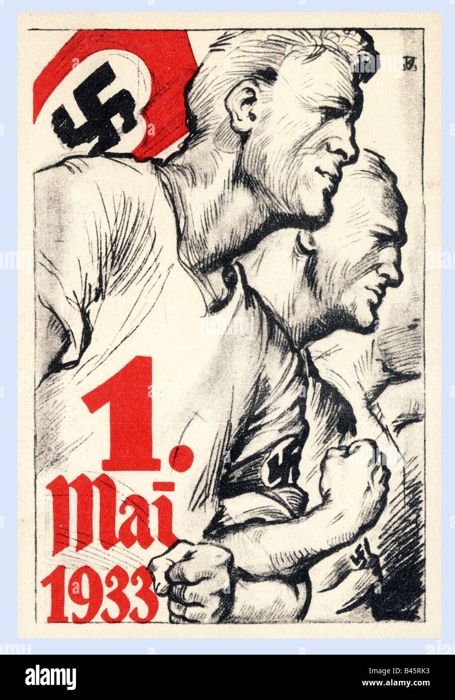Nazism/National Socialism, propaganda, poster, First of May 1933, 1.5.1933, Nazi Germany, Third Reich, NS, , Additional - Stock Image