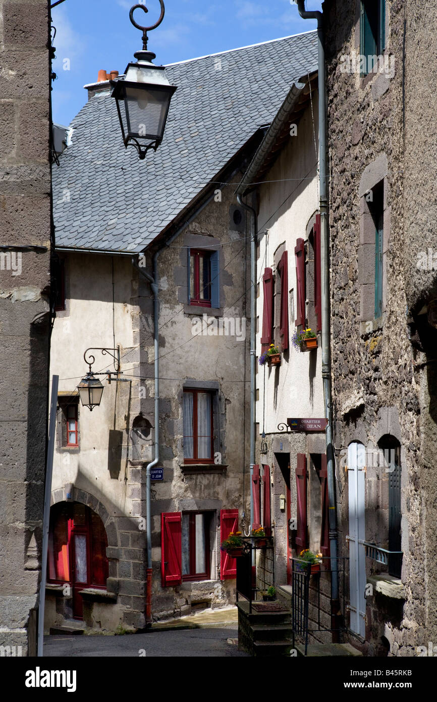 village of besse - et - st. Anastaise , auvergne , France - Stock Image