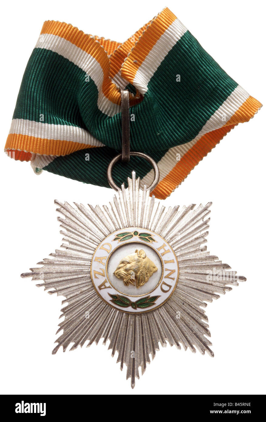 decorations, Germany, order Azad Hind for members of the Tiger Legion 1941 - 1945, 1st class, Second World War, - Stock Image