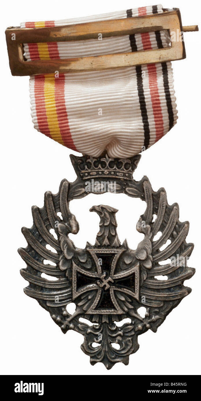 """decorations, Germany, memorial medal for members of the 250th Infantry Division (""""Blue Division""""), 1941 - 1944, Stock Photo"""