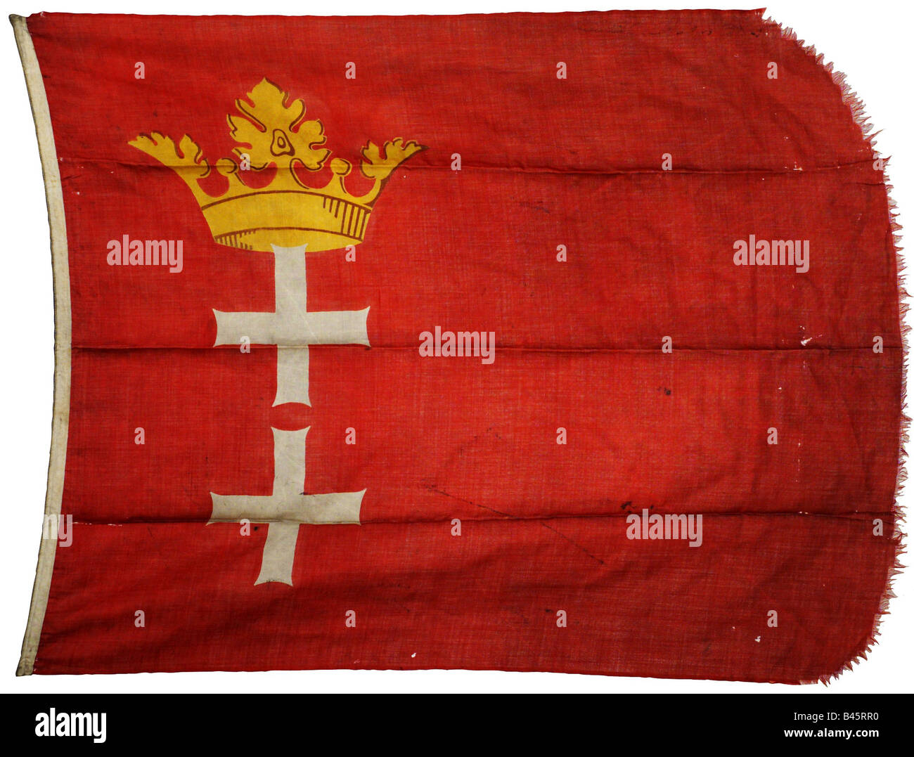 heraldry, flags, Germany, Free City of Danzig 1920 - 1939, flag,  20th century, Gdansk, Poland, , Additional-Rights - Stock Image