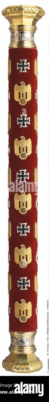 Rommel, Erwin, 15.11.1891 - 14.10.1944, German General, marshalœs baton, awarded 22.6.1942, field marshal, Germany, - Stock Image