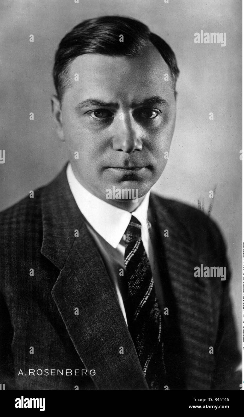 Rosenberg, Alfred, 13.1.1893 - 16.10.1946, German politician, Head of NSDAP Foreign Affairs Office 1933 - 1945, - Stock Image