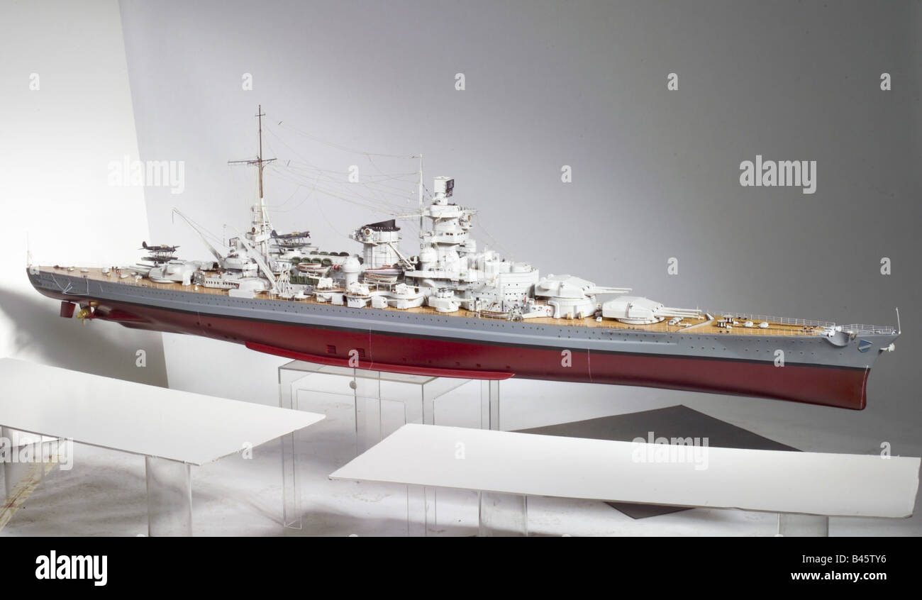 transport/transportation, navigation, warships, Germany, battlecruiser 'Scharnhorst', commissined 1.1.1939, - Stock Image