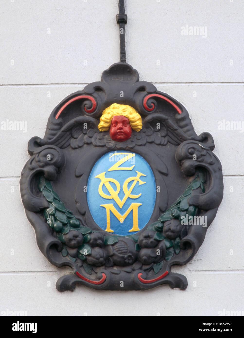 Middelburg, Wappen des VOC, - Stock Image