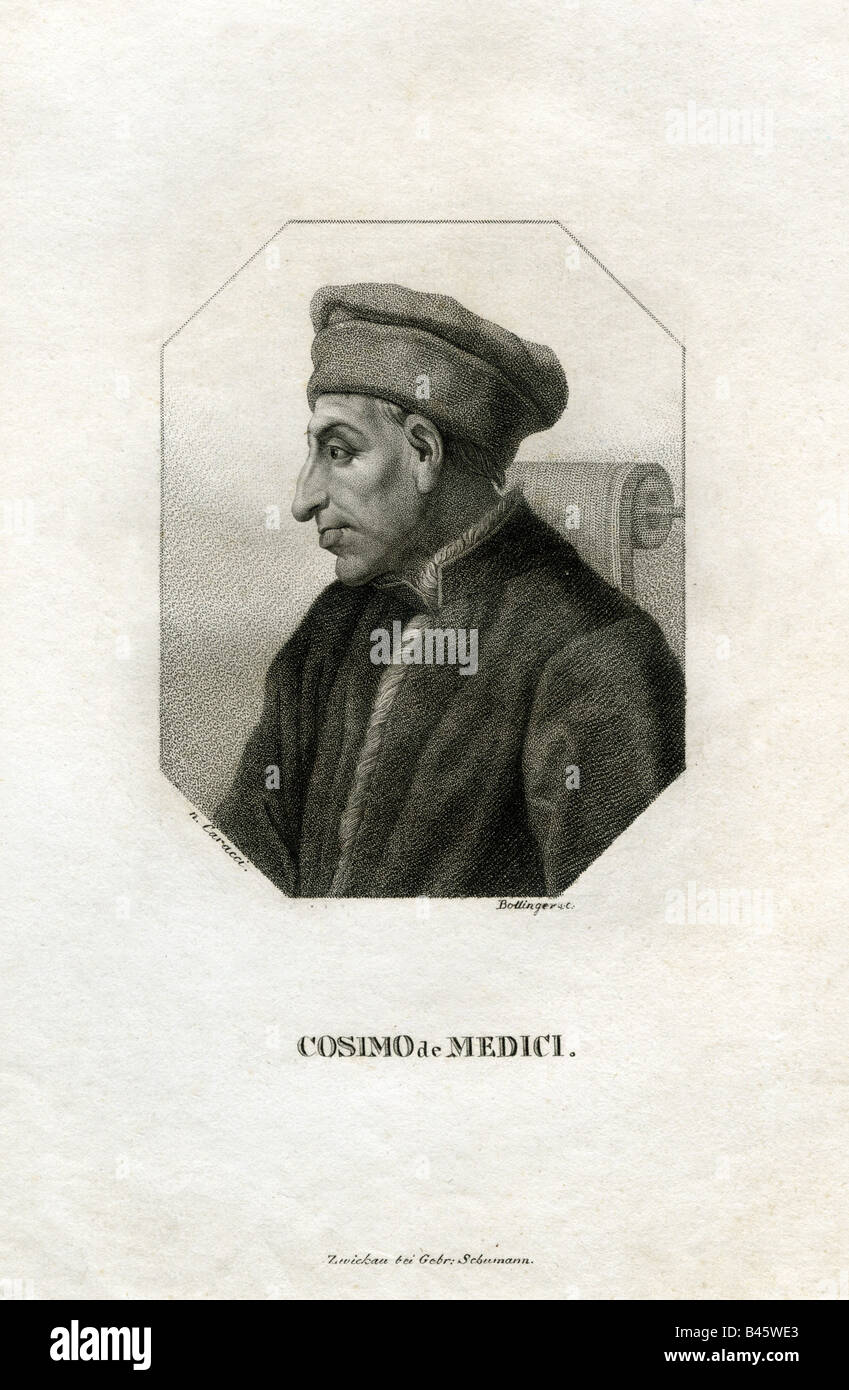 Medici, Cosimo de, 'the Elder', 27.9.1389 - , Artist's Copyright has not to be cleared - Stock Image